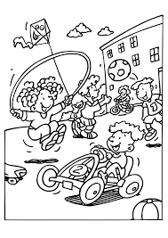 Playground Safety Coloring Pages Kids Coloring Pages Playground