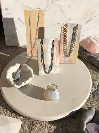 Trio Display Stands Magnificent Minimal Trio Concrete Jewelry Display Stands Marbled One Of A Kind
