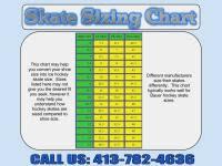 Inline Hockey Skate Size Chart Nike Ice Skates Size Chart Sizing Charts