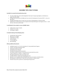 Tutoring On Resume Free Resume Example And Writing Download