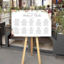 Vinyl Seating Chart Custom Signs Vintagebash