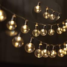 Bulb Fairy Lights Amazon Com Amzstar Solar Bulb String Lights 20 Led Ball