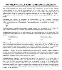 That is why you must make it a this lease agreement would be stating all the terms and conditions of the lease in a neat and organized manner. Free Short Term Rental Lease Agreement Templates Vacation Lease