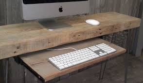 wood home office desks small. Reclaimed Wood And Hairpin Legs Home Office Desks Small