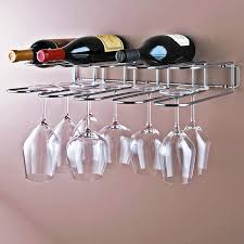 furniture very awesome wine glass rack design make your home with wooden hanging bar and metal