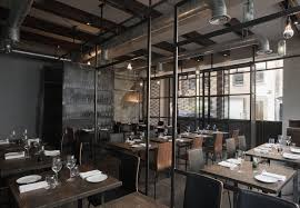 industrial style restaurant furniture. Interior:Classy Industrial Interior Design Ideas For Restaurant With Neat Furniture Decoration Classy Style