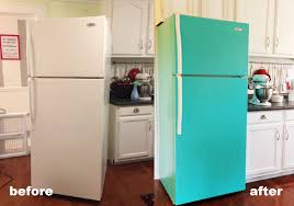 Antique Looking Kitchen Appliances Diy Painted Refrigerator Cozy Crooked Cottage