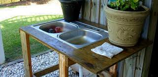 build your own outdoor utility sink today s homeowner