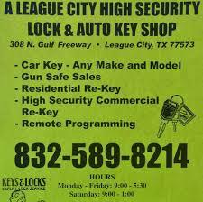 locksmith league city tx. Contemporary Locksmith A League City Highsecurity Locksmith U0026 Auto Key Shop Throughout Locksmith Tx T