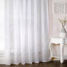 beautiful white voile curtains designs with melissa fl embroidered voile curtain panel