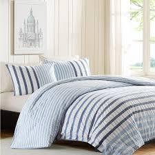 blue and white striped duvet cover. Unique White On Blue And White Striped Duvet Cover M