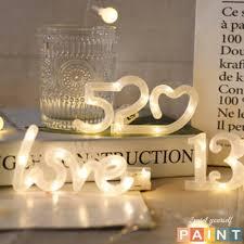 Đèn Led trang trí phòng chữ LOVE decor bàn học (đã kèm pin) - Đèn trang trí
