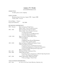 sample resume objectives for banking shopgrat cover letter resume example for bank teller education sample resume objectives for banking