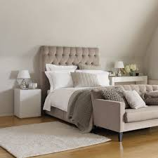 Taupe Bedroom Deep Buttoned Headboard And Gorgeous Shades Of Taupe For The