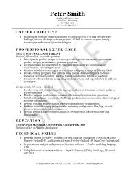 Qa Resume Objective Best of Quality Assurance Resume Example Pinterest Resume Examples