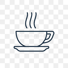 Modern infographic logo and pictogram. Coffee Cup Vector Icon Isolated On Transparent Background Linear Coffee Cup Transparency Concept Can Be Used Web And Mobile Stock Vector Illustration Of Beverage Paper 130122662