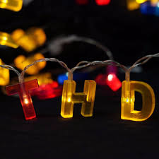 Happy Birthday Led String Lights Us 9 8 Colorful Letter Shaped Happy Birthday Led String Lights Battery Operated Fairy Lights For Birthday Gift Party Decorations In Led String From