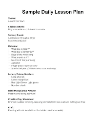 Sample Lesson Plans Format Sample Lesson Plan Format For Elementary Adults Example Template