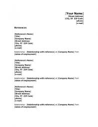 Resumeferences Template Cover Letter Word Format Examples Sample