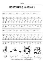 Handwriting Practice Cursive 6 Cursive Handwriting Handwriting
