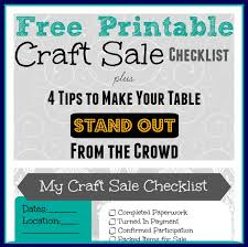 Free Printable Craft Sale Checklist » Thrifty Little Mom