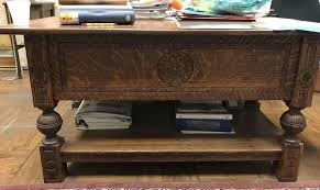 partners desk in quartersawn tiger oak c 1890 to expand