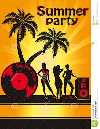 Summer Beach Party Stock Vector Illustration Of Leisure 30553369