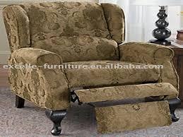 elegant wing back recliner chair pique recliner slipcover black 79 99