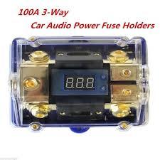 qoo10 3 way car audio power fuse holder stereo distribution block 3 way car audio power fuse holder stereo distribution block fusebox led display