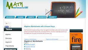 math worksheets go algebra i worksheets