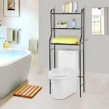 3 tier iron toilet towel storage rack holder over bathroom shelf organizer for kitchen study