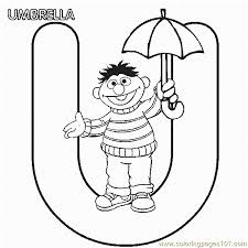 Small Picture Abc Letter U Umbrella Sesame Street Ernie Coloring Pages 7 Com