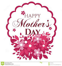 Mother S Day Graphic Design Happy Mothers Day Card Stock Vector Illustration Of
