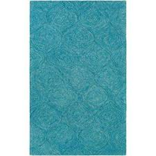hermitage cooper turquoise 4 ft x 6 ft indoor area rug