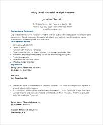 Credit Analyst Resume Extraordinary Financial Analyst Resume 48 PDF Word Documents Download Free