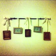 small size of how to hang picture frames on cubicle walls frame hanging with ribbon diy the wall