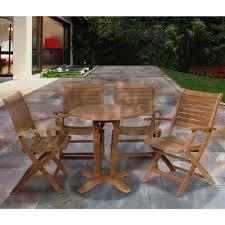 teak bistro table and chairs. Amazonia Aruba Teak 5-Piece Patio Dining Set Bistro Table And Chairs H