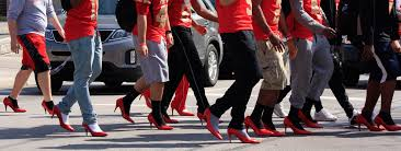 Image result for walk a mile in her shoes clip art