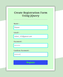 Registration Page Html Template Registration Form Html Under Fontanacountryinn Com