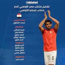 نتيجه مباراة مصر تحت ٢٣ و اسبانيا تحت 23 فى الأولمبياد الخميس , 22 يوليو  2021 - بطولات