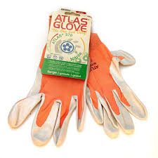 orange atlas touch screen compatable garden gloves gloves by