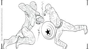 Captian America Coloring Pages Captain With Shield Coloring Page