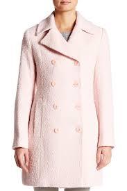 Fleurette Coat Nordstrom Rack Lyst Fleurette Notched Collar Double Breasted Coat in Pink 82