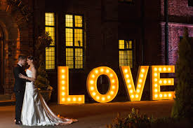 lighting letters. light up love letters lighting
