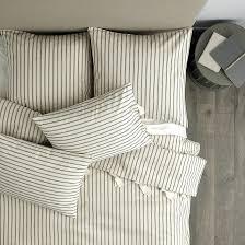 ticking stripe duvet navy ballard designs pillow ticking patches