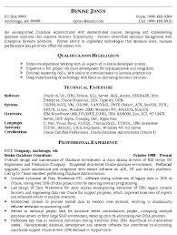 Database Specialist Sample Resume Career Specialist Resume Sales