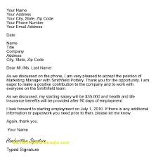 accept a job offer inspirational accept job offer letter sample free cover letter