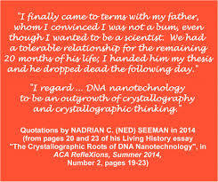 dna nanotechnology dr m on science research scientists quotations by prof nadrian ned c seeman from pages 20 and
