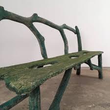 faux bois concrete bench
