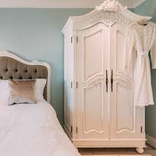 white wood wardrobe armoire shabby chic bedroom. White Armoire Wardrobe Bedroom Furniture. French Hand Carved Double - La Maison Wood Shabby Chic O